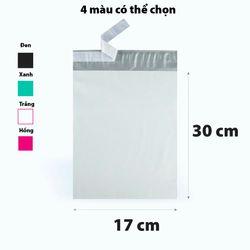 Đen 17x30cm Túi nilon PE gói hàng siêu daiCUỘN/100 cái