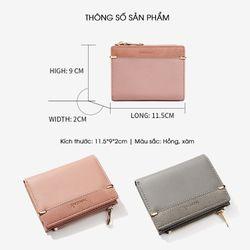 Ví nữ mini kiểu dáng mới trẻ trung D8267 giá sỉ, giá bán buôn