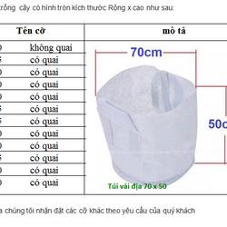 Túi vải trồng cây 30x25cm 2 quai xách kích thước giá sỉ giá bán buôn giá sỉ