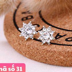 Bông tai kim loại đính hạt giá sỉ 8k/1 đôi