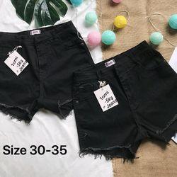 Quần Short Jeans Nữ Đen CO GIÃN SIZE LỚN giá sỉ
