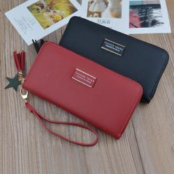 Ví/ BópNữ Dài D8219 2 Màu - Đen/Đỏ Cực Đẹp dáng ví cầm tay giá sỉ