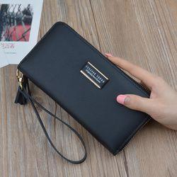 Ví/ BópNữ Dài D8219 2 Màu - Đen/Đỏ Cực Đẹp dáng ví cầm tay giá sỉ, giá bán buôn