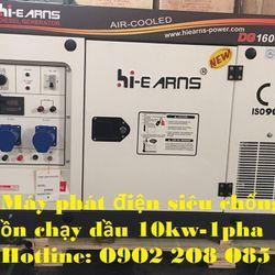 Cần Bán Máy Phát Điện Chạy Dầu 10kw 1 pha chống ồn giá sỉ