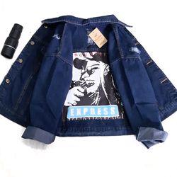 Áo Khoác Jeans Nữ Đắp Vải in giá sỉ
