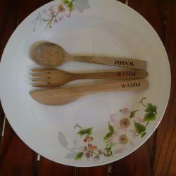 Bộ dao thìa nĩa bằng tre giá sỉ, giá bán buôn
