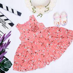 Đầm bé gái voan bông 1-8 giá sỉ