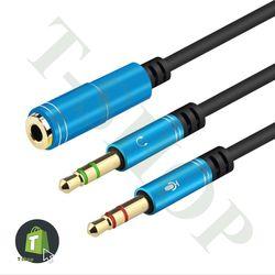 Cáp chuyển đổi cổng tai nghe 35 sang Mic và Audio giá sỉ