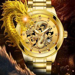 Đồng hồ nam rồng vàng giá sỉ
