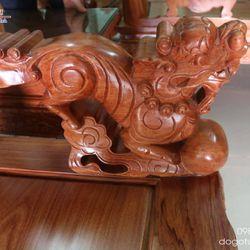 Bộ Nghê Đỉnh gỗ hương tay 12 10 món giá sỉ