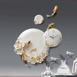 Đồng hồ treo tường trang trí cá vượt vũ môn giá sỉ
