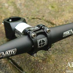 bộ ghi đông tay lái cọc yên xe đạp địa hình xe đạp leo núi thẳng chuyên dụng Truvativ Taiwan sơn tĩnh điện đen sần giá sỉ