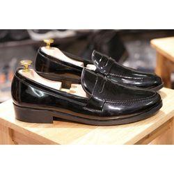 Giày Tây Khóa Kim Loại - Mã MT Đen Bóng giá sỉ, giá bán buôn