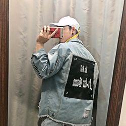 áo Khoác Jeans Nam thêu 3 Size