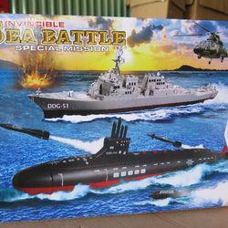 Đồ chơi trẻ em mô hình tàu chiến 2 chiếc giá sỉ