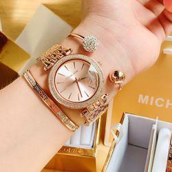 Sét micheaaakors gồm đồng hồ vòng tay full box giá sỉ