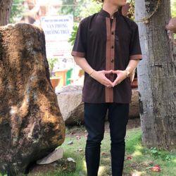 Áo lam đi chùa nam giá sỉ