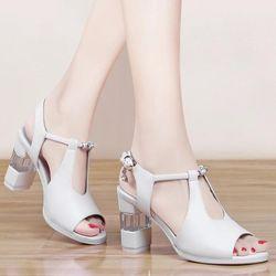 Giày cao gót đính đá phối mê ca trong- CG70 giá sỉ