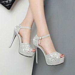 Giày cao gót đính đá Vip- CG175 giá sỉ
