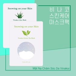 Mặt Nạ Chăm Sóc DaVinakorgreentea Mask korea vinakor green tea mask pack giá sỉ