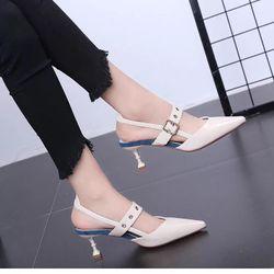 Giày cao gót kiểu phối quai cài giá sỉ