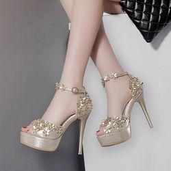 Giày cao gót đính hoa cao Krea - CG178 giá sỉ