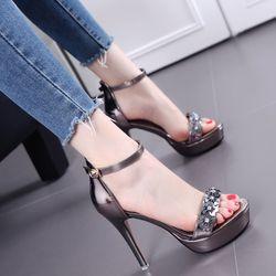 Giày cao gót đính hoa - CG52 giá sỉ