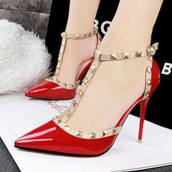 Giày cao gót LbTin đinh tán - CG356 giá sỉ