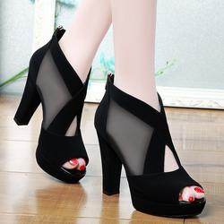 Giày cao gót lưới chéo - CG31 giá sỉ