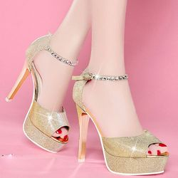 Giày cao gót quai đá Korea- CG536 giá sỉ