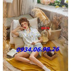 Bộ ngủ pijama chất cotton thấm hút mồ hôi thông thoáng BN74