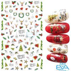 Miếng Dán Móng Tay 3D Nail Sticker Tráng Trí Noel Giáng Sinh F272