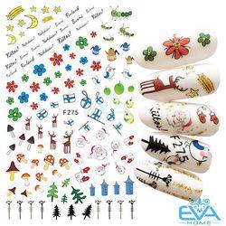 Miếng Dán Móng Tay 3D Nail Sticker Tráng Trí Noel Giáng Sinh F275