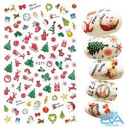 Miếng Dán Móng Tay 3D Nail Sticker Tráng Trí Noel Giáng Sinh F271