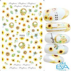 Miếng Dán Móng Tay 3D Nail Sticker Tráng Trí Hoạ Tiết Bông Hoa F223