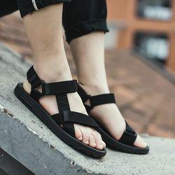 Giày sandal nam nữ mã 145 màu đen - tím giá sỉ