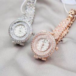 Đồng hồ nữ thời trang Royal Crown 2606 mặt đá mịn xoay siêu đẹp giá sỉ