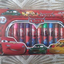 Hộp 12 bút lông tô màu in hình xe hơi