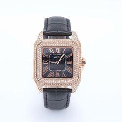 Đồng hồ nữ GUOU 8215 mặt vuông đính đá giá sỉ, giá bán buôn