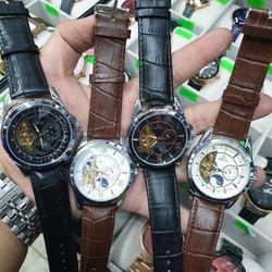 Đồng hồ cơ da Omegaa trăng sao cỡ nhỏ giá sỉ