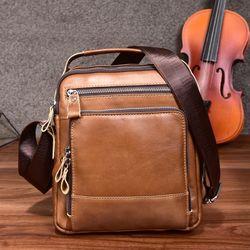 Túi đeo chéo da bò màu nâu TC32 kích thước 10inch giá sỉ