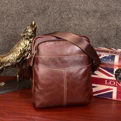 Túi đeo chéo cỡ lớn 10 inch da bò màu nâu TC33 giá sỉ