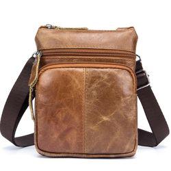 Túi đeo chéo cỡ nhỏ da bò sáp dầu TC14 giá sỉ