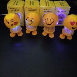 Thú nhún emoji phát sáng có đèn hàng sẵn giá sỉ