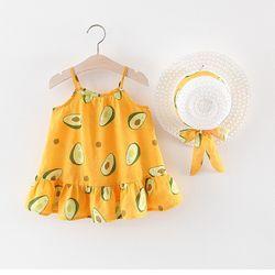 Váy 2 dây đuôi cá hình quả bơ kèm mũ xinh xắn giá sỉ