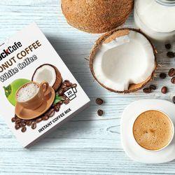 CÀ PHÊ DỪA - Rockcafe Coconut White Coffee - Hộp 20 gói x 20g giá sỉ, giá bán buôn