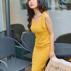 Đầm body nơ vai hình chụp thật- gia công và bán sỉ giá sỉ
