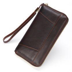 Ví nam cầm tay DA BÒ THẬT- mẫu ví cao cấp đẹp- bền-tiện dụngVD09 giá sỉ
