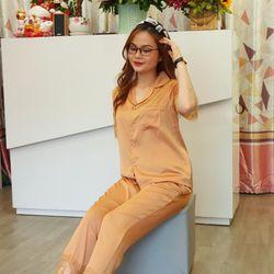 Pijama Bộ mặc nhà lụa crep phối ren form siêu đẹp