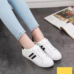Giày bata thêu vải 2 mà đen xám GIÀY CẶP NAM NỮ - BT302 giá sỉ